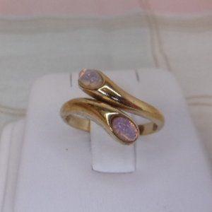 Avon Faux Opal By-Pass Wrap Ring Size 7